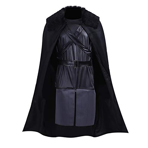 Halloween Costumes Game of Thrones Jon Snow Cosplay Cape Cloak Knights Robes Outfit A041M