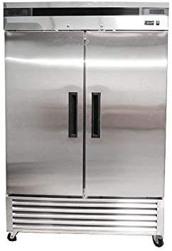 2 Two Double Door Stainless Steel Restaurant Commercial Freezer NSF ETL Approved 5 Years Warranty 31V8UvEWPbL