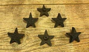- LuxMart Set of 6 Cast Iron Rust Star Drawer Pulls Cabinet Knobs 0170-10310