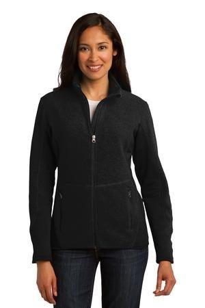 Port Authority Ladies R-Tek Pro Fleece Full-Zip Jacket, XL, Black/Black (Fleece Port Authority R-tek Ladies)