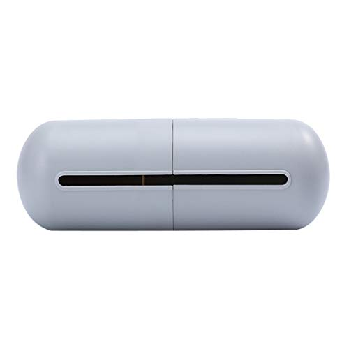 GJK-SION Creative Capsule-Shaped Buckle Design Garbage Bag Receiving Box - Wall-Mounted Rubbish Bag Storage Box - Good Helper for Cleaning (Gray)
