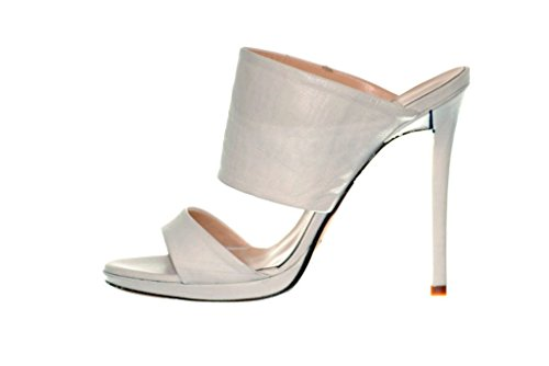 Sandalo RIPA tacco alto con plateaux (38, Pelle bianca)