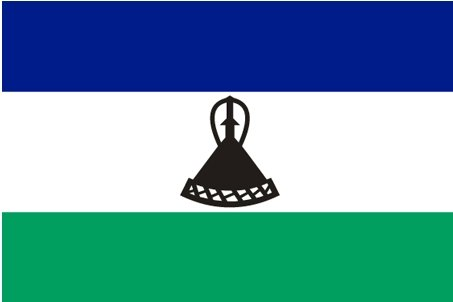 NEOPlex 3' x 5' International Flags of the World's Countries - Lesotho (New)