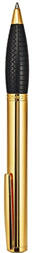 Chopard Classic Mine Racing Designer Pencil Pen - 14.2 cm Long Elegant Plated Yellow Gold Mechanical Pencil with Black Rubber Comfort Grip - Nice Luxury Lead Pencil 0.7 mm Best For Gift by Chopard