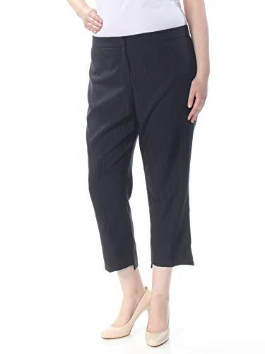 (Tahari ASL Womens Petites Pinstriped Step-Hem Dress Pants Navy 16P)