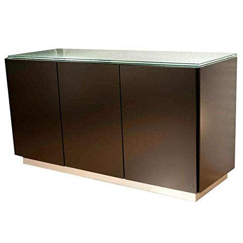Glass and Dark Walnut 60'' Storage Credenza by SI (Image #1)