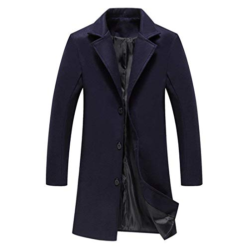 Double Outerwear Coat Warm Men's Jacket Grau Design College Apparel Breasted Outfit Fit Slim Trench Coat Jacket Long Sleeve Winter BCfwpzqq