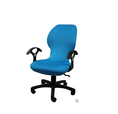 WEE-WEE Turquoise Colour Iycra Computer Chair Cover Fit for Office with Armrest Spandex Seat Case for Indoor Ourdoor