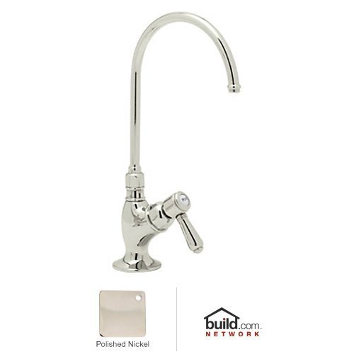 Rohl AKIT1635LMPN-2 Kit Country Kitchen Filter Faucet with C Spout and Mini Metal Lever Handle Complete with Filter in Polished Nickel Includes (Country Kitchen Filter Faucet)