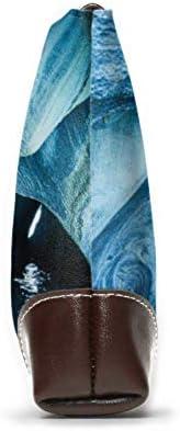 Yushg Pochette en cuir souple et imperméable pour femme Une belle pochette pour femme en cuir avec fermeture éclair pour femmes filles