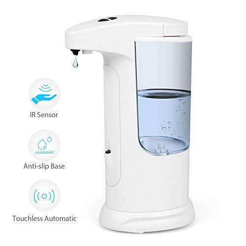 (Automatic Soap Dispenser, 370ml Infrared Motion Sensor Liquid Dispenser with 3 Adjustable Dispensing Volume, IP65 Waterproof, Anti-leakage, Touchless Soap Dispenser for Kids, Kitchen,)