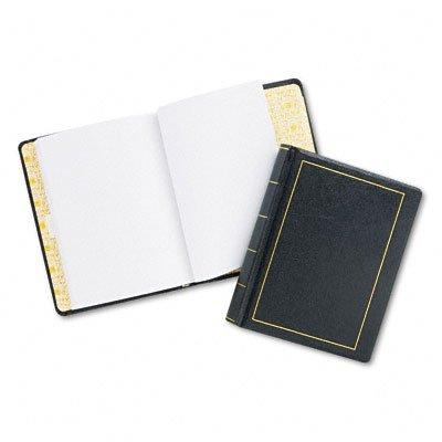 Wilson Jones Looseleaf Minute Book, BLK Leather-Like Cover, 125 Pgs, 8-1/2 x 11 Blk Leather Like Cover