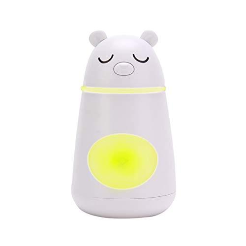 Multi-diffuser diffuser difussers Humidifier Humidifiers cooler vaporiser Cute bear three-in-one multi-function fan night light mini USB white by Multi-diffuser
