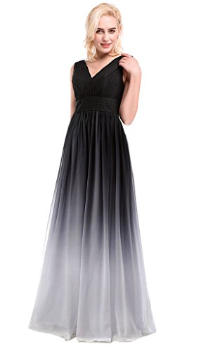 Column Drasawee White5 Balck Damen Kleid 0SxSq65