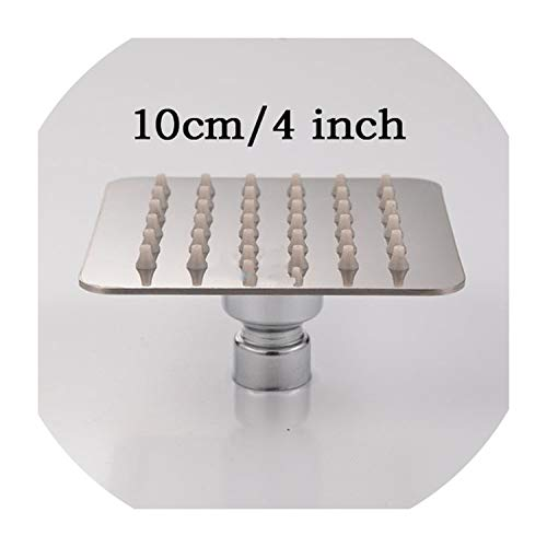 Stainless Steel Showerhead BathroomRain Ultrathin,4 inch square style