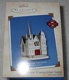 2002 Hallmark Country Church Candlelight Services 5 in series Ornament