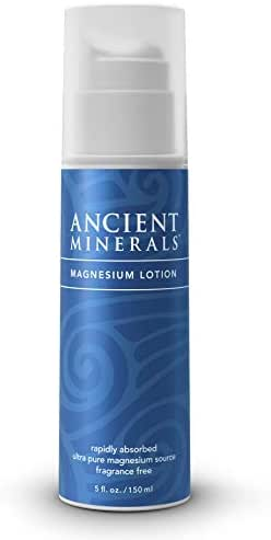 Ancient Minerals Magnesium Lotion of Pure Genuine Zechstein Magnesium Chloride - Best uesd for Topical Skin Application on Sensitive Skin(5oz)