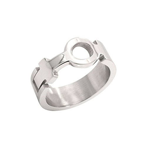 New Venus Female Symbol Cut Out Sculpted Ring - Lesbian Pride Steel Ring Female Lesbian Pride Ring. steel ring band for Lesbians. Rainbow Pride Lesbian Jewelry. SIZE (8) for $<!--$12.99-->