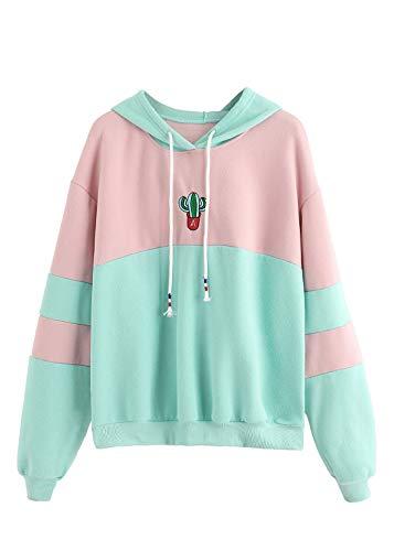 Harajuku Girls Clothing - SweatyRocks Womens Long Sleeve Colorblock Pullover