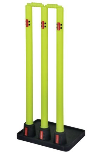Gray Nicolls Outdoor Team Sports Official Solid Rubber Base Cricket Stumps by Gray-Nicolls by Gray-Nicolls