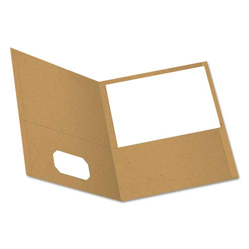 (Earthwise 100% Recycled Paper Twin-Pocket Portfolio, Natural, Sold as 1 Box, 25 Each per Box)