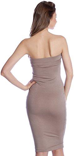 Del Bodycon Donne Taupe Tubo Senza Dna Delle Spalline Base Couture Vestito Mini 5qBwpSX