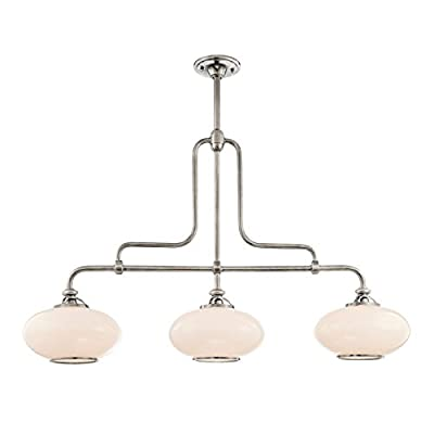 Hudson Valley Lighting Canton 3-Light Island Pendant - Old Bronze Finish with Opal Glossy Glass Shade