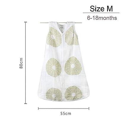 Amazon.com : HBK 100% Muslin Cotton Baby Thin Slumber Sleeping Bag Mod for Summer Bedding Baby Saco De Dormir para Bebe Sacks Sleepsacks : Sports & Outdoors