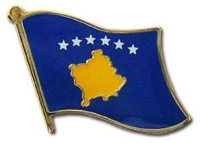 JumpingLight Wholesale Pack of 3 Kosovo Country Flag Bike Hat Cap Lapel Pin for Home, Official Party, All Weather Indoors Outdoors