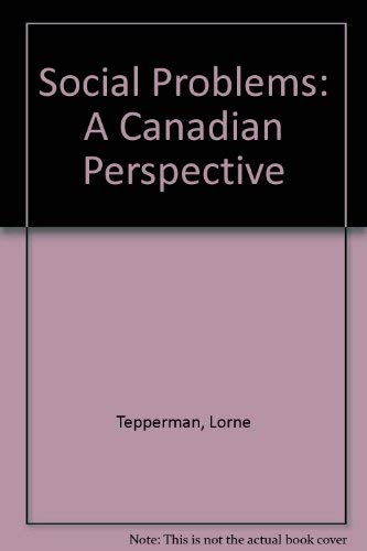 Social Problems: A Canadian Perspective (Spanish Edition)