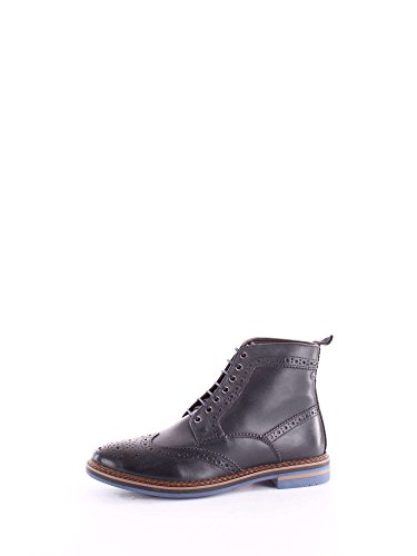 Base London Mens Hurst Leather Boots Navy