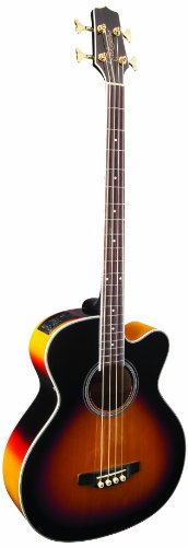Takamine GB72CE-BSB Jumbo Acoustic Electric Bass Guitar, Black Sunburst