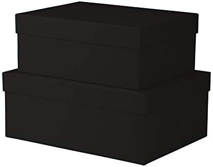 Rössler Papier S.O.H.O. 2 caja de cartón rectangular, color negro: Amazon.es: Oficina y papelería