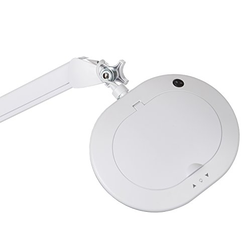 Brightech Lightview Pro XL Magnifying Glass with LED Floor Lamp & Rolling Base/Stand - 2.25X Magnifier with Light That's Very Bright - High Contrast White Light Best For Crafts & Reading by Brightech (Image #5)
