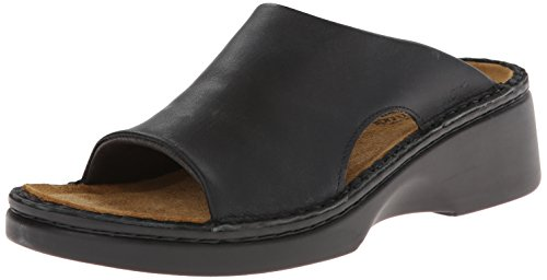 Naot Women's Rome Wedge Sandal, Black, 41 EU/10 M US