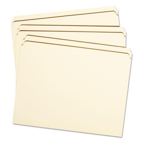 Smead(R) Heavyweight 2-Ply Tab Manila File Folders, Straight Cut, Letter, Box Of - Heavyweight Tab Ply 2