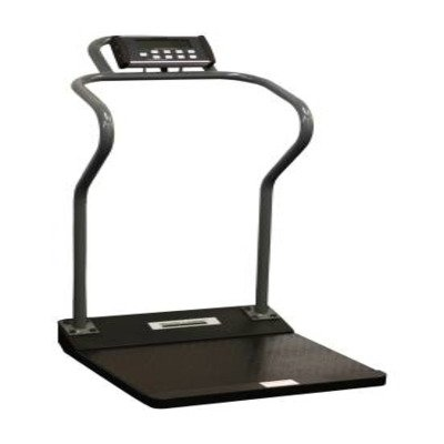 MCK55863700 - Health-o-meter Digital Platform Scale Health O Meter Antimicrobial LCD Display 1000 lbs. Black and Gray Battery Operated or Optional AC Adapter
