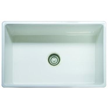 Franke FHK710-30WH Farm House Fireclay Single Bowl Apron Front Kitchen Sink, 30, White