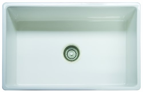Fireclay Bowl Single (Franke FHK710-30WH Farm House Fireclay Single Bowl Apron Front Kitchen Sink, 30