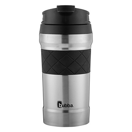 (Bubba HERO Elite Vacuum-Insulated Stainless Steel Travel Mug with TasteGuard, 12 oz, Sliver)