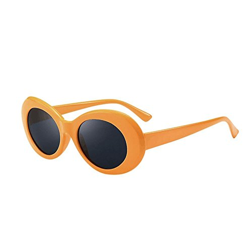 FORUU Glasses, Retro Vintage Clout Goggles Unisex Sunglasses Rapper Oval Shades Grunge 2019 Summer Newest Arrival Beach Holiday Party Trendy Best Gifts For Father Dad Under 5 Dollars Free Delivery