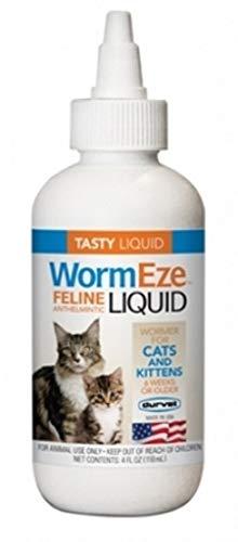 Wormeze Feline Liquid Wormer for Cats & Kittens 4oz.