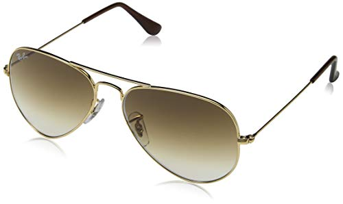 Ray-Ban Aviator Classic, Gold/ Crystal Brown Gradient, 58 mm