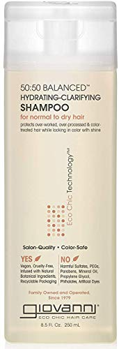 GIOVANNI 50:50 Balanced Hydrating Clarifying Shampoo, 8.5 oz. Leaves Hair pH Balanced for Over-Processed…