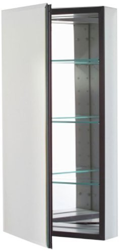 Robern CB-MT16D4FBLL M-Series Left-Hand Flat Bevel Mirror Medicine Cabinet with Defogger and Light by (Robern Flat)