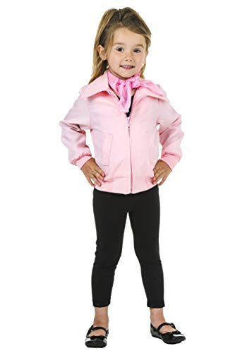 Pink Ladies Jacket For Toddler (Toddler Deluxe Pink Ladies Jacket Costume)