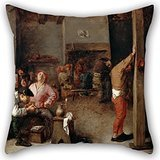 - Artistdecor Cushion Covers 20 X 20 Inches / 50 By 50 Cm(each Side) Nice Choice For Pub,club,bench,dinning Room,outdoor,kids Boys Oil Painting Brouwer, Adriaen - Interior Of A Tavern