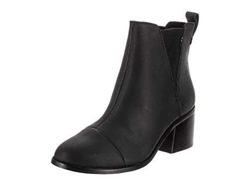 TOMS Women's Esme Boot Black Leather 10 ()