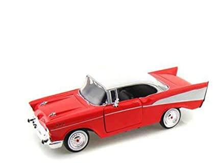 Amazon Com Stradpotoy 1957 Muscle Car Red 1 24 Scale Diecast Model