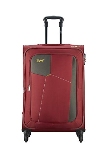 Skybags Rubik Polyester 68 Cms Softsided Check-in Luggage (RED)